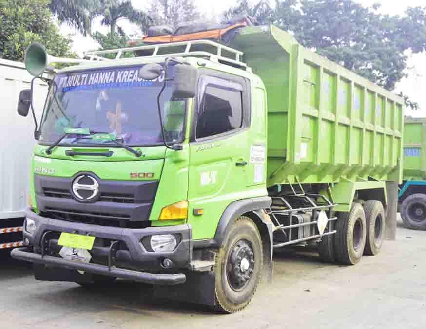 multihanna kreasindo pengolah limbah b3 dump truck tronton
