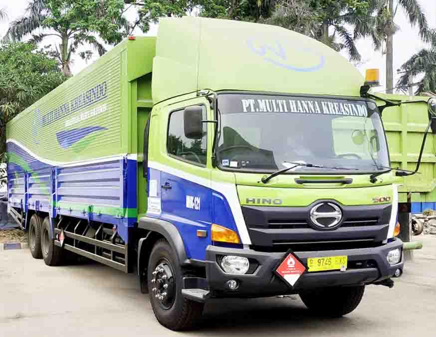 multihanna kreasindo pengolah limbah b3 wing's box truck